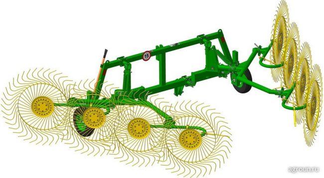 Грабли колесно-пальцевые ГКП-8