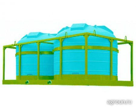 Ёмкость для перевозки воды и жидких удобрений 2х5000 литров